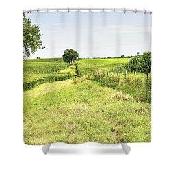 Iowa Corn Field Shower Curtain by Scott Hansen