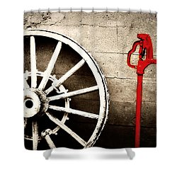 Iowa Hydrant Shower Curtain by Julie Hamilton