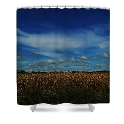 Shower Curtain featuring the photograph Iowa's Sky by J L Zarek