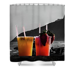 Ipanema With Cocktails Shower Curtain by Cesar Vieira