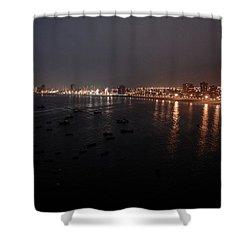 Iquique Harbor Chile Shower Curtain