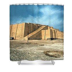 Iraq: Ziggurat In Ur Shower Curtain by Granger