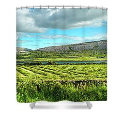 Ireland  - Burren Panorama Shower Curtain