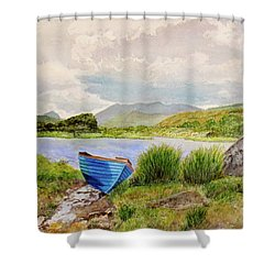 Shower Curtain featuring the painting Ireland by Carol Flagg