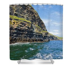 Ireland Cliffs Shower Curtain