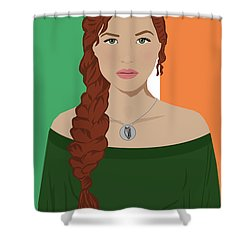 Shower Curtain featuring the digital art Ireland by Nancy Levan