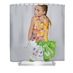 Irene In Tea Bags Shirt And Banners Skirt Shower Curtain