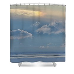 Iridescence Horizon Shower Curtain