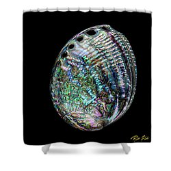 Shower Curtain featuring the photograph Iridescence On The Half-shell by Rikk Flohr