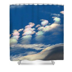 Iridescent Clouds 2 Shower Curtain