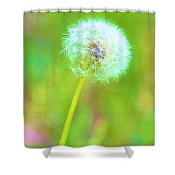 Iridescent Glow Shower Curtain