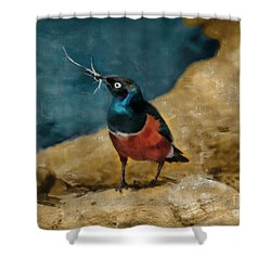 Iridescent Starling Shower Curtain