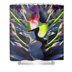 Iris Abstract Shower Curtain