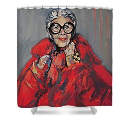 Iris Apfel Style Icon Shower Curtain by Nop Briex
