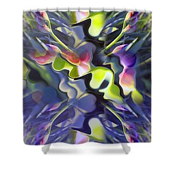 Iris Bursts Shower Curtain