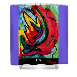 Shower Curtain featuring the painting Iris by Clarity Artists
