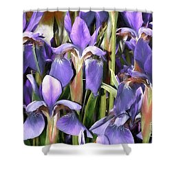 Shower Curtain featuring the photograph Iris Fantasy by Benanne Stiens
