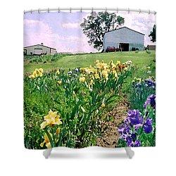 Shower Curtain featuring the photograph Iris Farm by Steve Karol