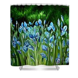 Iris Galore Shower Curtain