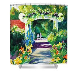 Iris Garden Walkway   Shower Curtain