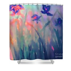 Iris Shower Curtain by Holly Martinson