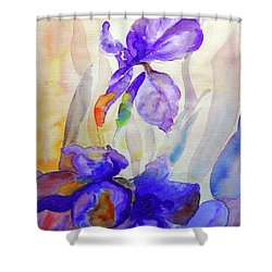 Shower Curtain featuring the painting Iris by Jasna Dragun