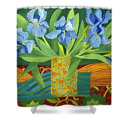 Iris Shower Curtain by Jennifer Abbot