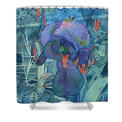 Iris Lace With Wild Columbine Shower Curtain