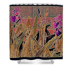 Iris Mural Shower Curtain