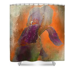 Shower Curtain featuring the digital art Iris Resubmit by Jeff Burgess