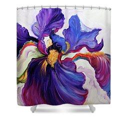 Iris Serenity Shower Curtain by Marcia Baldwin