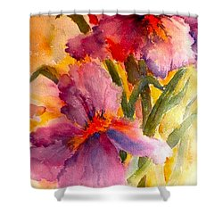 Iris Twins Shower Curtain