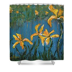 Shower Curtain featuring the painting Irises by Jamie Frier