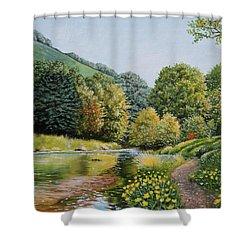 Irish Afternoon Stroll Shower Curtain
