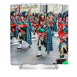 St. Patrick Day Parade In New York Shower Curtain