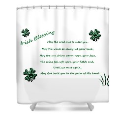 Irish Blessing 2 Shower Curtain
