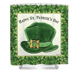 Shower Curtain featuring the painting Irish Cap by Debbie DeWitt