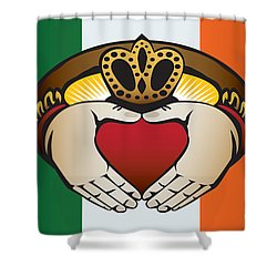 Irish Claddagh Art Shower Curtain