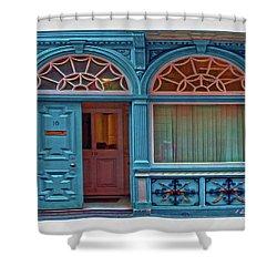 Shower Curtain featuring the digital art Irish Door by Hanny Heim