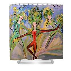 Irish Greenery  Shower Curtain by Judith Desrosiers