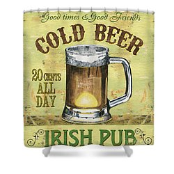 Irish Pub Shower Curtain by Debbie DeWitt