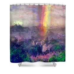 Irish Rainbow Shower Curtain