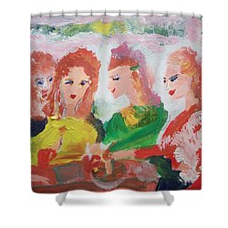 Irish Reunion Shower Curtain by Judith Desrosiers