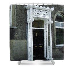 Irish Solicitors Door Shower Curtain by Teresa Mucha