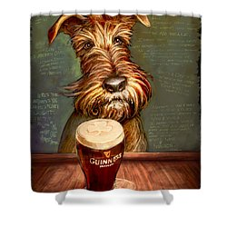 Irish Toast Shower Curtain by Sean ODaniels
