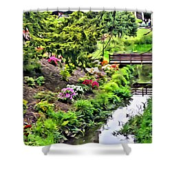Irish Summer Stream Shower Curtain