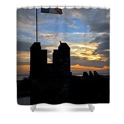 Irish Sunset Over Ramparts 1 Shower Curtain