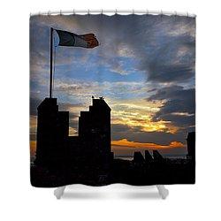 Irish Sunset Over Ramparts 2 Shower Curtain