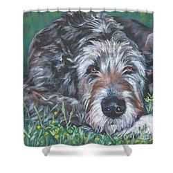 Irish Wolfhound Shower Curtain by Lee Ann Shepard
