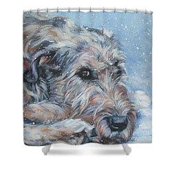 Irish Wolfhound Resting Shower Curtain